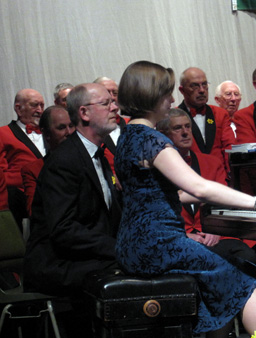 the Oxford Welsh Male Voice choir on st davids day 2009 with geoffrey cowan accompanist