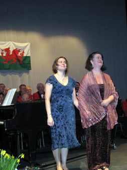 the Oxford Welsh Male Voice choir on st davids day 2009 soloist helena newsom