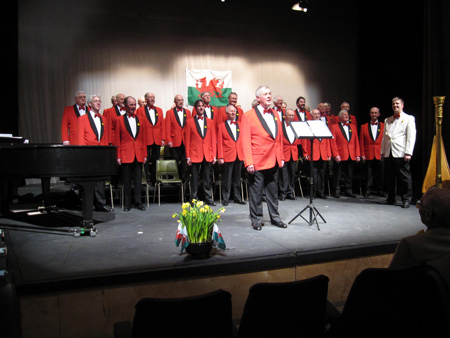 the Oxford Welsh Male Voice choir on st davids day 2009 phil lewis chairman