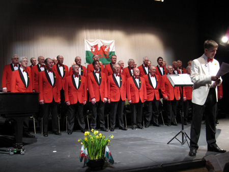 the Oxford Welsh Male Voice choir on st davids day 2009 conducted by phillip palmer
