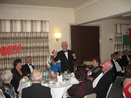 Wyn Calvin entertained the Choir and Guests at its 80th birthdaY PARTY