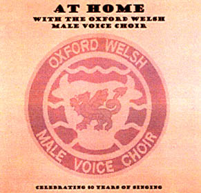 cd cover for take me home current CD of oxford welsh male voice choir